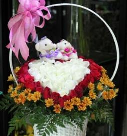 Giỏ hoa sinh nhật hình trái tim ý nghĩa