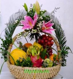 Giỏ hoa và trái cây sinh nhật ý nghĩa